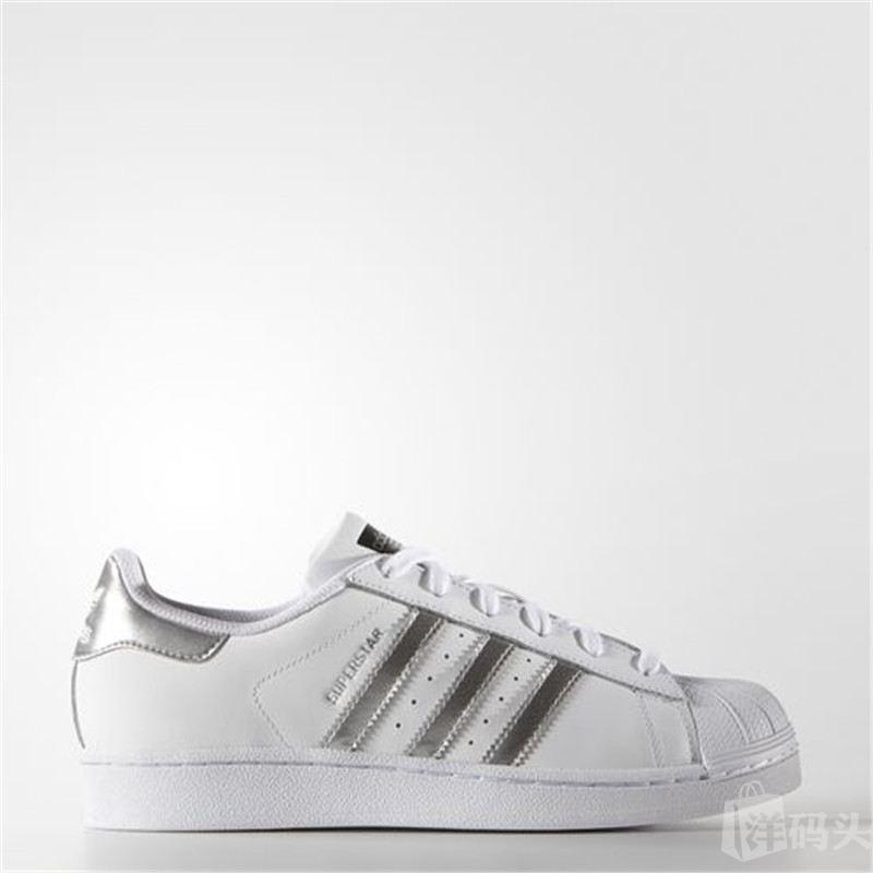 Adidas Superstar阿迪达斯贝壳头银标AQ3091 阿迪达斯经典款再出新色系 闪光银 街头潮鞋 时尚百搭