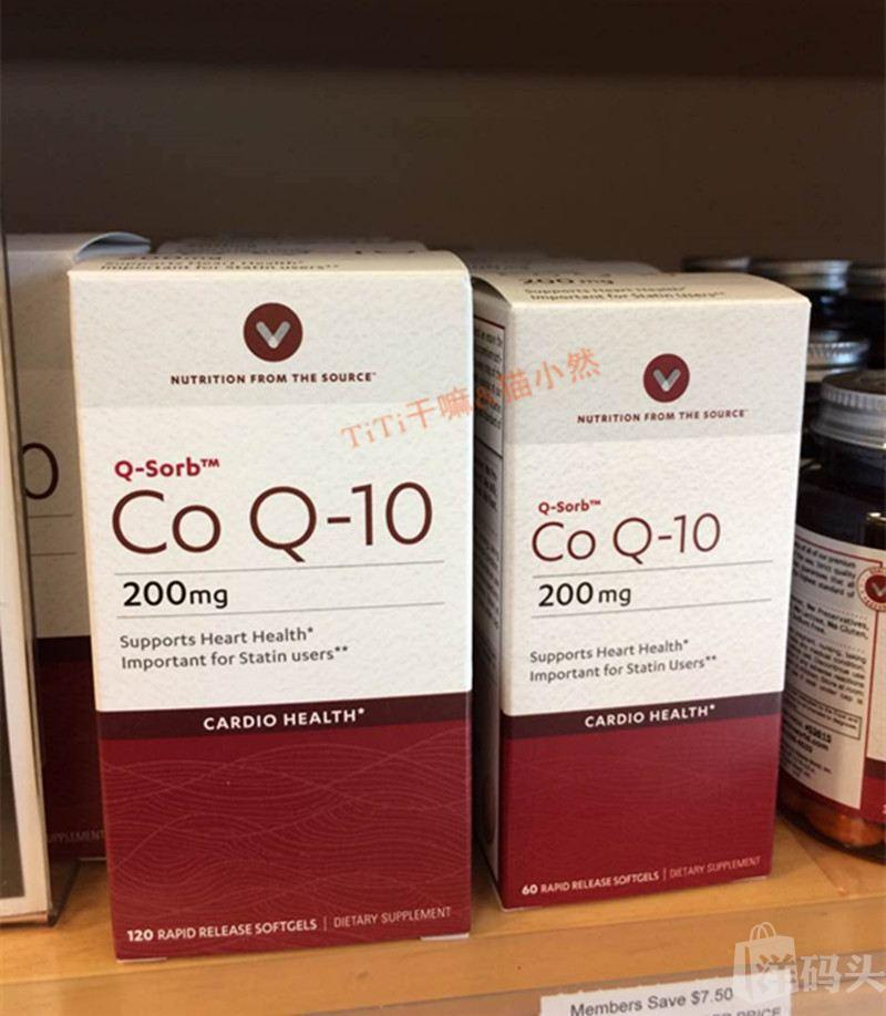 美国Vitamin World辅酶Q10强效护心200mg 120粒软胶囊
