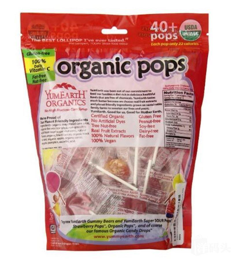 美国Yummy Earth天然有机棒棒糖 40+大袋装