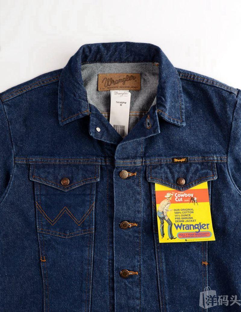 美国Wrangler威格 男士原色牛仔衣男秋季外套时尚夹克潮男上衣