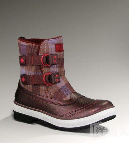 UGG Marrais Purple Plaid格子保暖防水户外靴