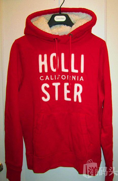Hollister 男士套头卫衣