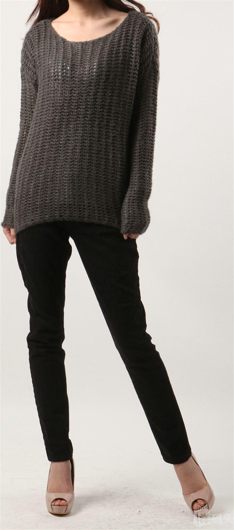 亏本卖! 美国晓雪!Calvin Klein/CK女款镂空毛衣!不退换!