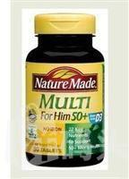 (美国直邮)Nature Made Multi50+50岁以上男性维生素 骨骼前列腺保