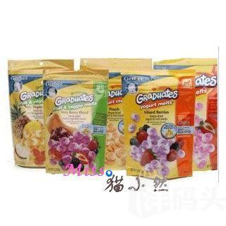 3袋 GERBER嘉宝酸奶小溶豆 28g 6种口味混搭