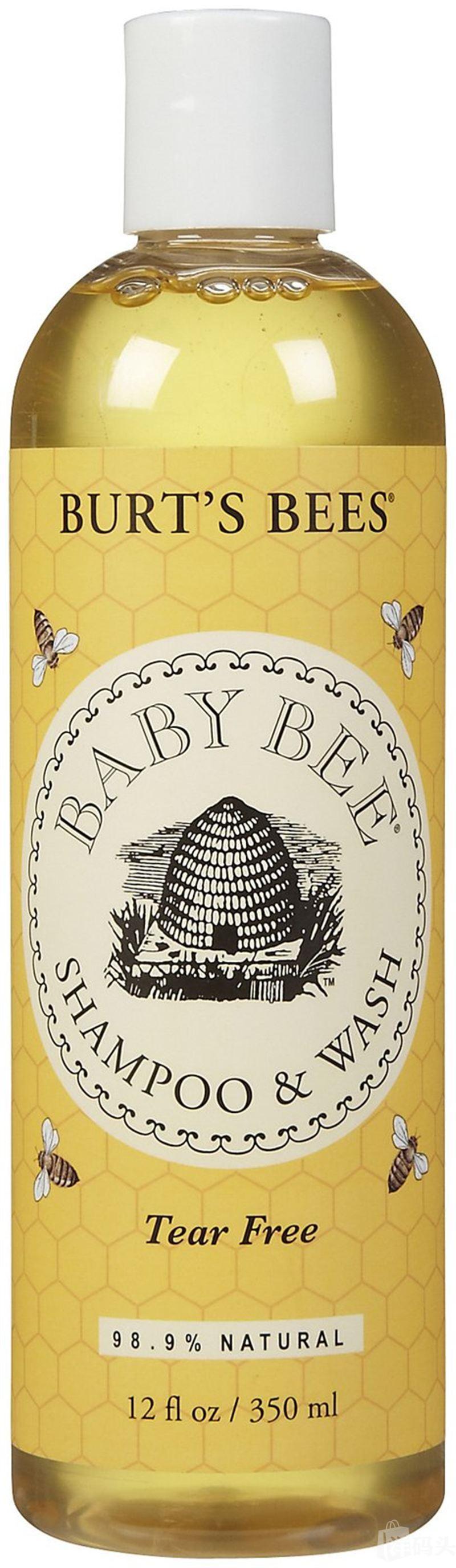 美国直邮Burt's Bees小蜜蜂婴儿无泪配方洗发沐浴露350ML