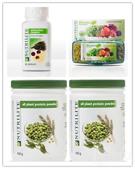【美国直邮包税】安利纽崔莱抗氧化4件套 蛋白粉 葡萄籽 DOUBLEX
