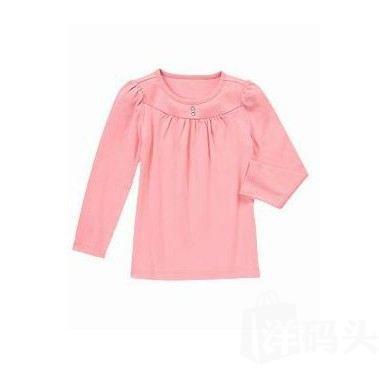 现货 金宝贝Gymboree 美国代购 女童长袖T恤 纯色T恤 各色可选