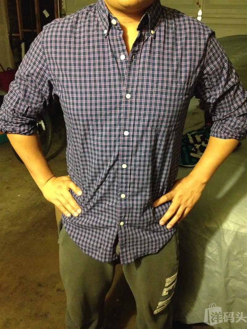 J.Crew男士小格子衬衣