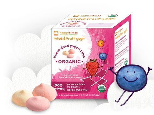 美国直邮Happy Baby禧贝有机酸奶小溶豆 三种水果口味组合包