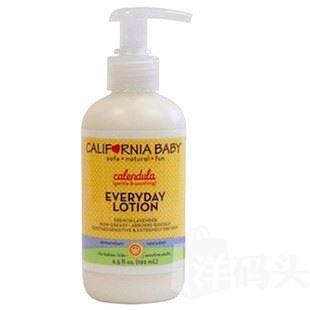 现货 美国CaliforniaBaby加州宝宝金盏草乳液 192ml 湿疹痱子特效