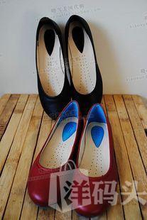 美国晓雪代购 ECCO爱步红色 黑色 真皮Angel系列舒适休闲鞋~两色入