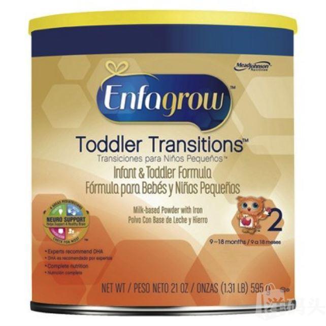 美赞臣婴儿奶粉二段Enfagrow奶粉 9-18个月 595克 美国直邮