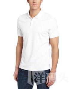 calvin klein CK男T恤新款全棉细条纹翻领短袖白色/灰色两款
