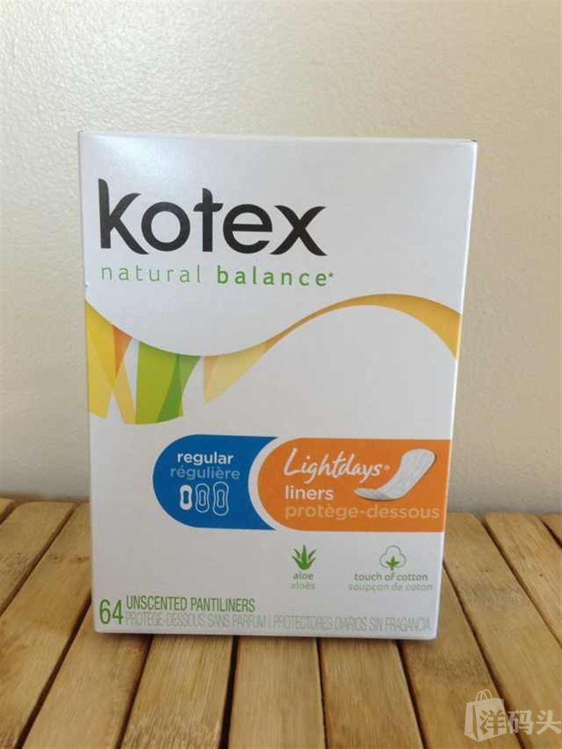 美国晓雪!Kotex卫生护垫!盒子运输中有瘪的,亏本卖