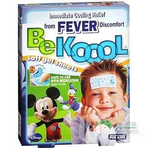 BeKoool宝宝退热贴/物理降温/冰凉软凝胶/4片装