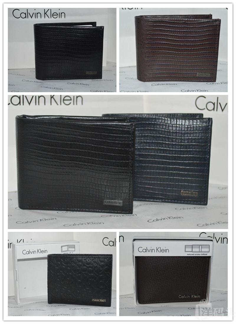 Calvin Klein CK 美国专柜正品男皮质二折钱包卡包配礼盒多款现货