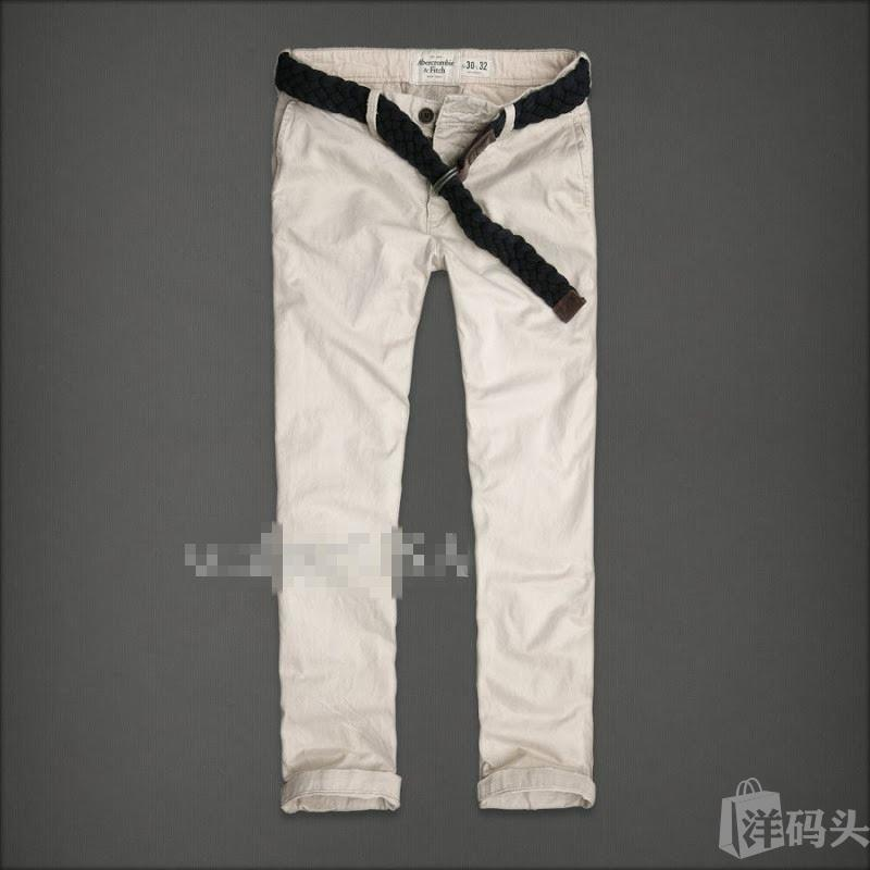 Abercrombie Fitch Slim Straight Chinos修身直筒长裤带腰带
