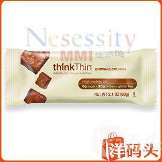 【美国直邮】thinkThin® 高蛋白质布郎尼松脆营养棒