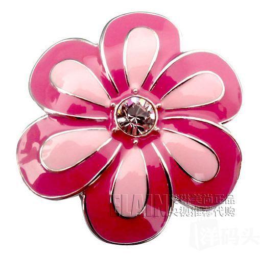 美国正品 施华洛世奇 Swarovski 花型水钻项链/胸针 现货