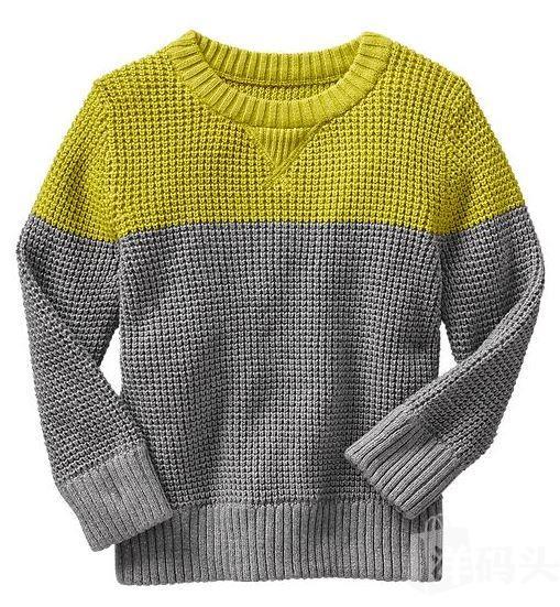 【现货直邮】专柜正品 GAP 男童 圆领撞色毛衣