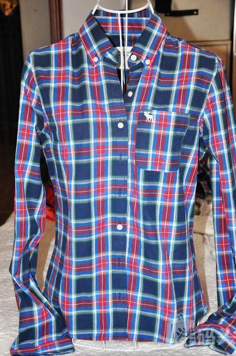 美代正品 Abercrombie Fitch 女士格子衬衫 M码