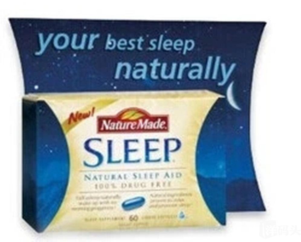 美国直邮Nature Made Sleep Aid纯天然辅助睡眠胶囊60粒