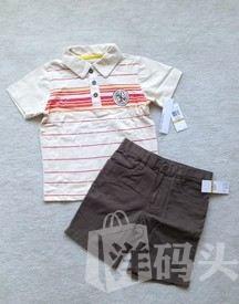 美国代购Calvin Klein Jeans上衣+短裤超级抢眼两套装2-4T现货