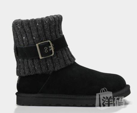 美国代购包邮包税 UGG女士雪地靴 1003175 黑色/咖啡色