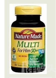 Nature Made Multi50+50岁以上男性维生素 骨骼前列腺保