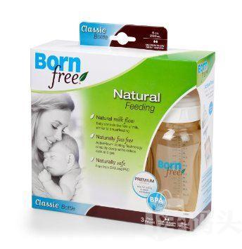 美国Bornfree/Born free 防胀气塑料奶瓶/不含BPA 9oz/260ml-拆单