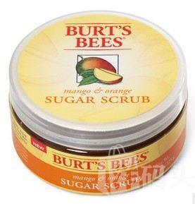 新品 美国Burt's Bees小蜜蜂香橙芒果身体去角质膏磨砂糖225g