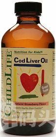 美国Childlife 鳕鱼肝油 婴幼儿童DHA+维ADE 草莓味237ML