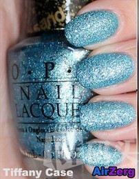 OPI 彩色指甲油 邦德女郎 M51 Tiffany Case 流沙宝石蓝 15ml