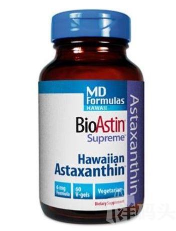 美国直邮Nutrex BioAstin 虾青素6mg 60粒抗氧化美容防衰老