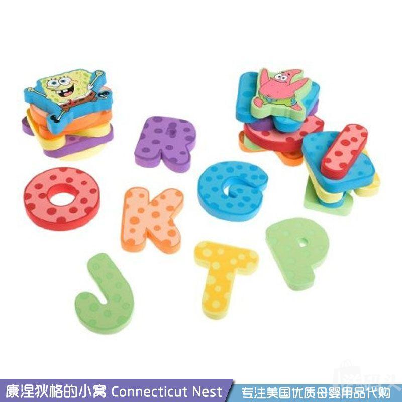 【现货】美国Munchkin麦肯齐洗澡戏水玩具 海绵宝宝+字母28片