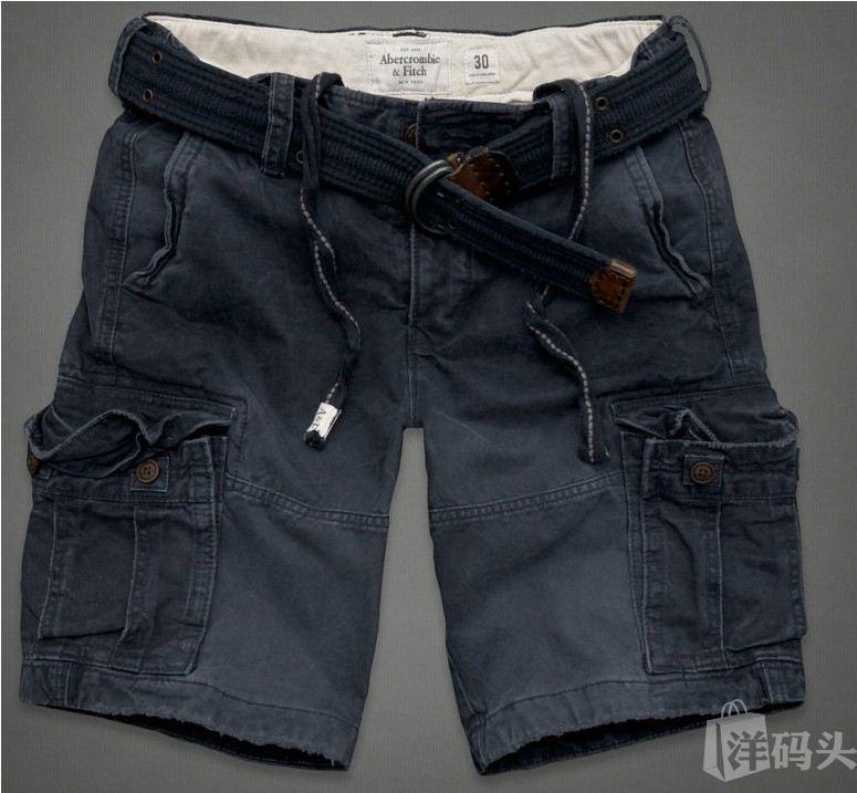 AF Abercrombie&Fitch 小鹿男款休闲短款工装裤