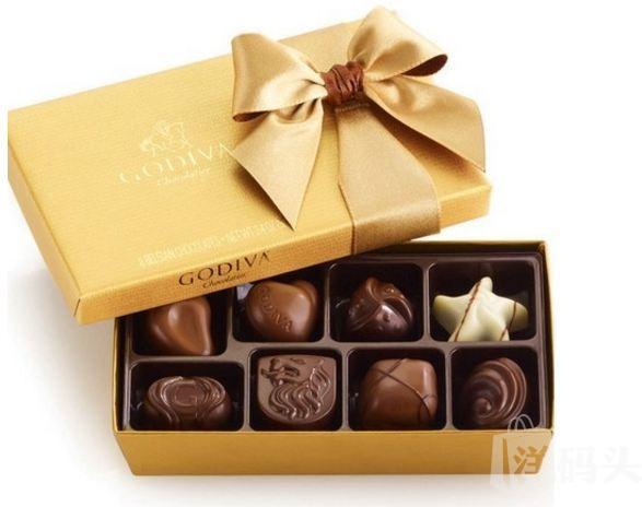 Godiva歌帝梵/巧克力金色巧克力礼盒8粒精装/情人节礼物