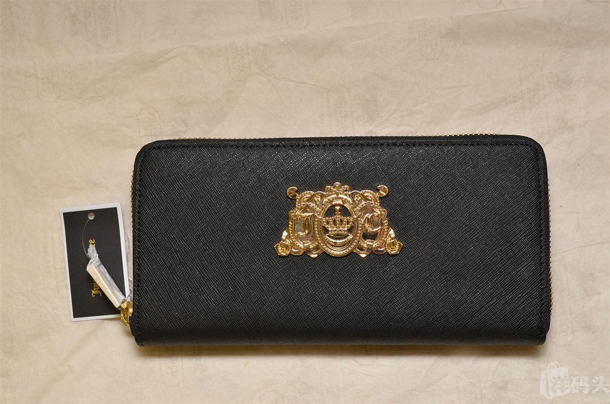 Juicy Couture十字纹真皮长钱包CONTINENTAL ZIP WALLET YSRUS081