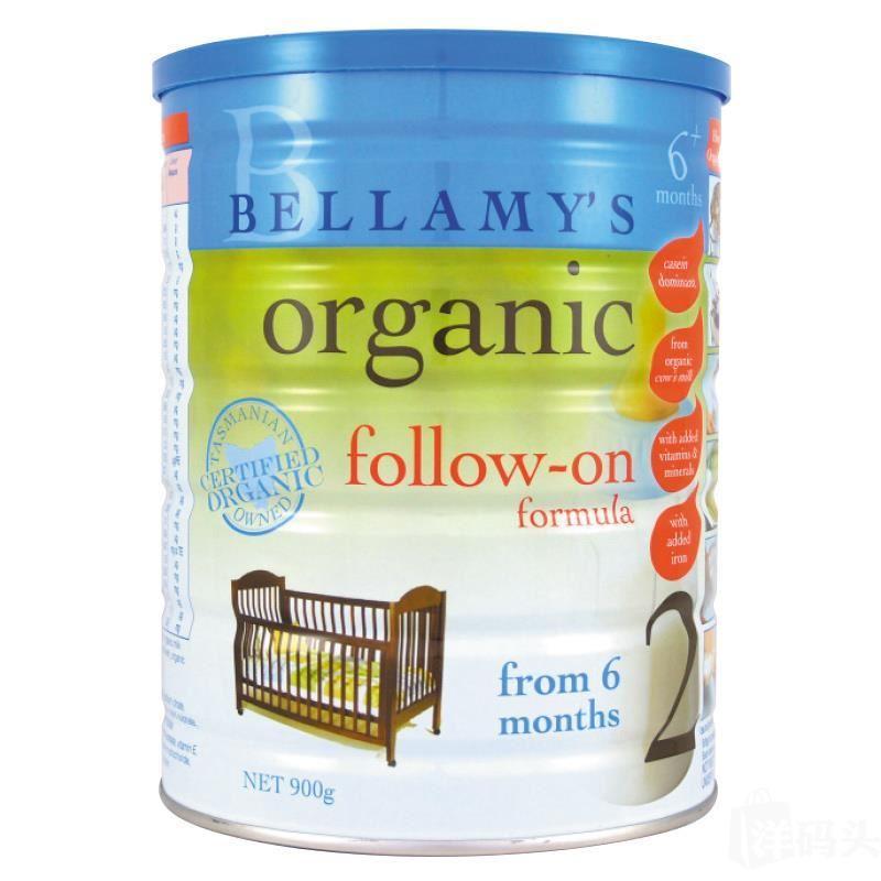 Bellamy's贝拉米有机奶粉2段6罐装,澳洲直邮代购