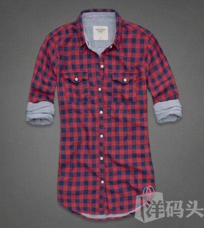 【特价】af 女款 MARLIE Shirt 红色格子 长袖衬衫/双层棉
