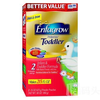 美国Enfamil美赞臣Enfagrow2段二段金樽金尊奶粉850g, 2盒起包邮!