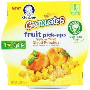 美国进口Gerber 嘉宝水果味颗粒 黄桃粒 婴儿宝宝辅食零食