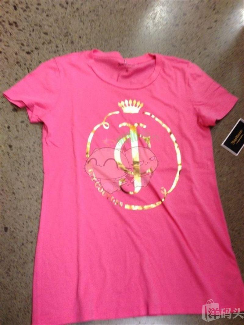 美国现货 Juicy Couture/橘滋 JGO00696/JGO00838 烫金LOGO女士T恤