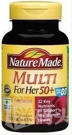美国直邮  Nature Made Multi 50+     50岁以上女性矿物质维生素 90粒