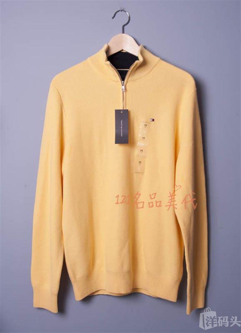 特价 美国代购正品 Tommy Hilfiger汤米纯棉男士休闲针织衫现货春