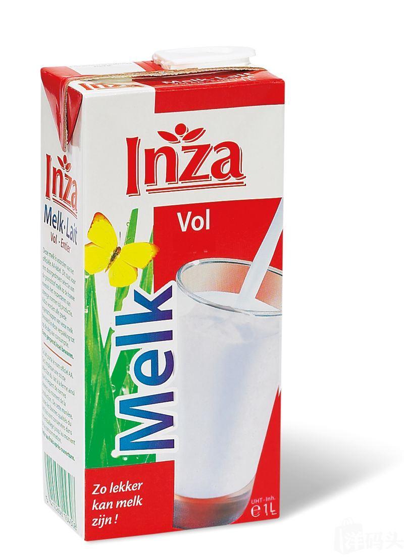 INZA应赞 全脂/低脂纯牛奶 1升装 一箱12*1L价 江浙沪闽粤包邮
