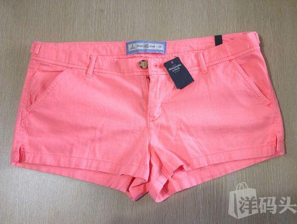 Abercrombie & fitch 女士短裤 水红色