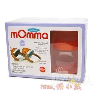 mOmma婴幼儿不倒翁球形防漏吸管杯/鸭嘴杯/奶瓶三用成长套装