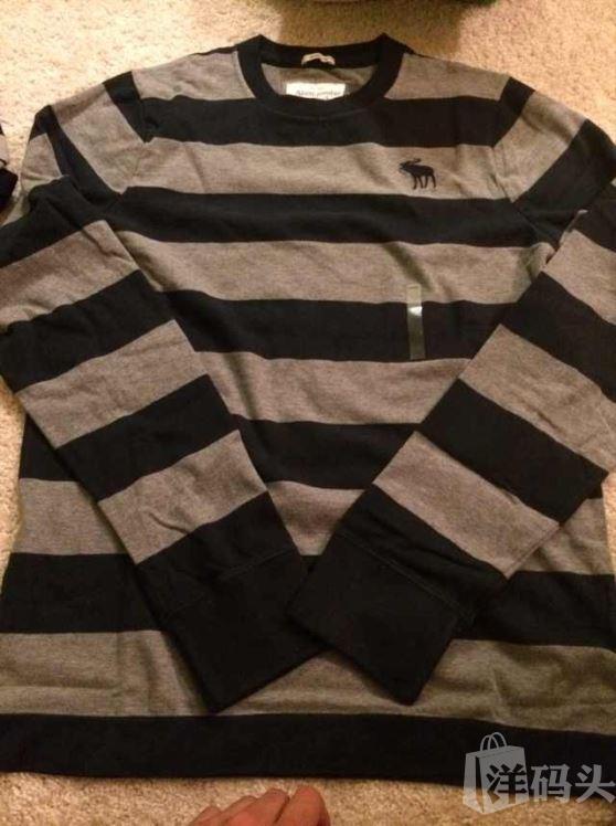 Abercrombie & Fitch 男士条纹T恤 纯棉